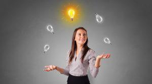 אישה מעלה רעיונות